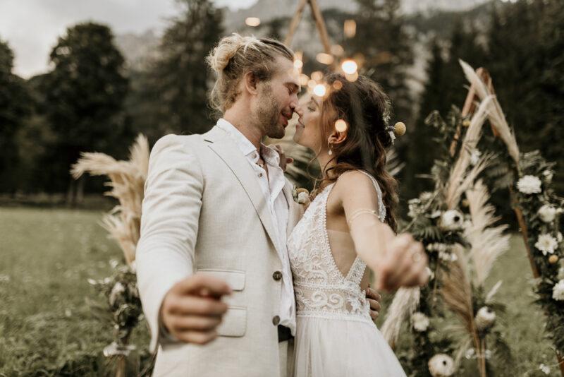 Tannheimertal Sunset Hochzeitsbilder
